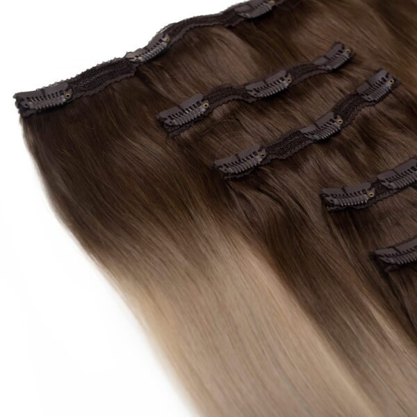 Edwards And Co. Extentions - Coffee n Cream Balayage in 5 piece